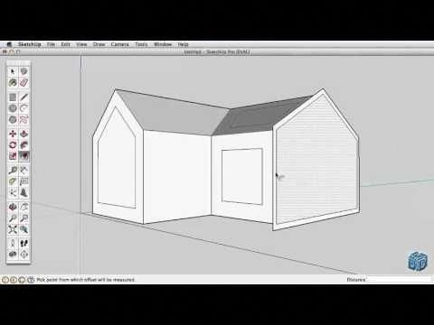 Sketchup Tutorial For Beginners Part 2 Youtube Woodworkinginfographic Sketch Up Architecture Tutorial Software Design
