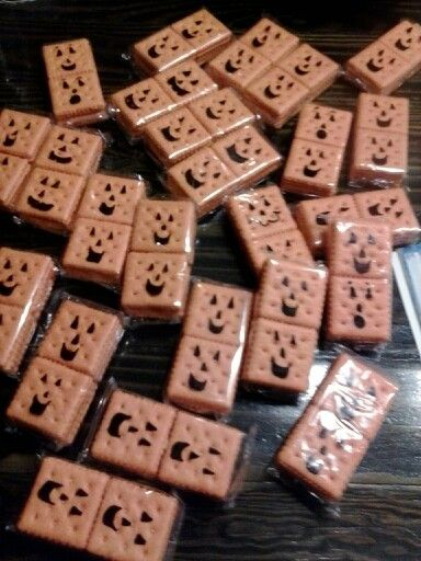 Spookley the square pumpkin snack I bought the packages of cheese - halloween treat ideas for school parties