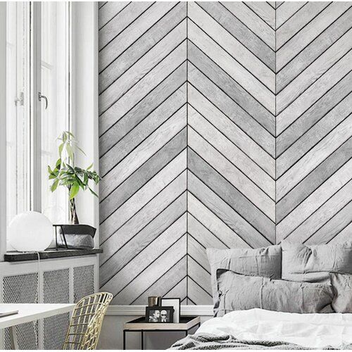 Malbon Wood Accent 2 Panel Peel And Stick Mural Accent Walls In Living Room Wallpaper Living Room Accent Wall Accent Wall Bedroom