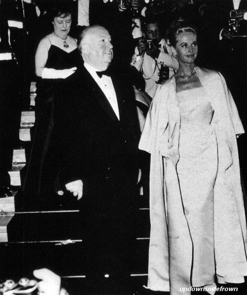 Alfred Hitchcock and Tippi Hedren at the Cannes Film Festival, 1963