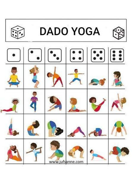 Dado Yoga Posturas De Yoga Para Niños Yoga Para Niños Relajacion Para Niños