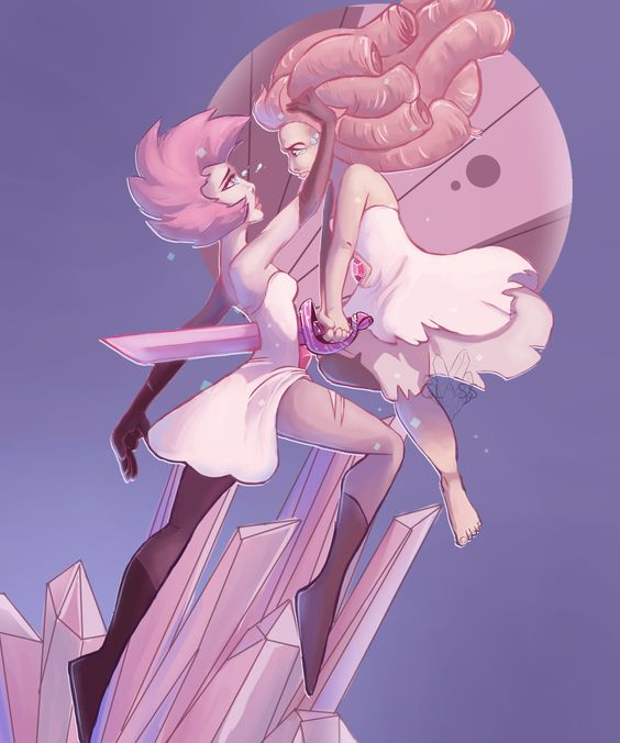 steven universe | Pink diamond steven universe, Sad and Rose quartz