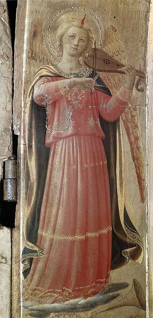 Fra Angelico, Open Tabernacle of Linaioli (San Marco, 1433, det. of Angel with Violin) by Ark in Time, via Flickr: