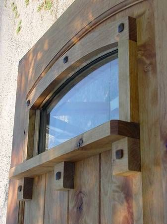Custom Knotty Alder Craftsman Style Door
