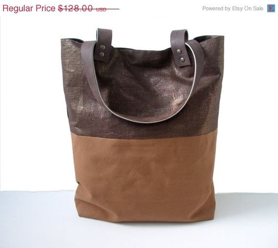Black Friday Sale Canvas Tote Bag Color Block by IndependentReign, $96.00
