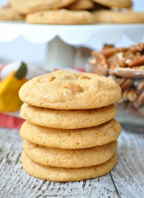 Butterscotch Pecan Cake Mix Cookies - weird. Usually I'd never use cake mix, but this recipe is novel enough in its approach that I just might give it a shot.
