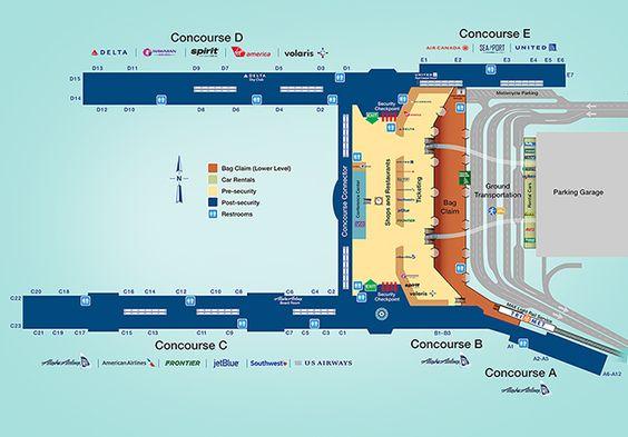Portland Airport Car Rental: PDX Terminal Map