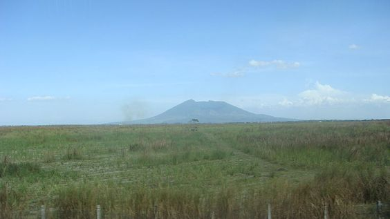 The Central Luzon plain with Mount Arayat in the background
