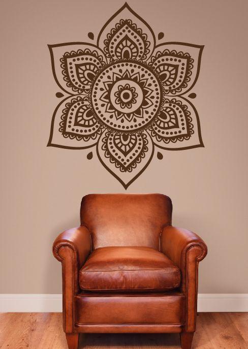 Vinil decorativo de mandala en la imagen aparece en for Mandalas de decoracion para pared