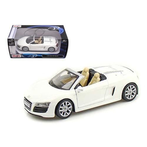 2011 Audi R8 Spyder White 1 24 Diecast Model Car By Maisto Audi R8 Spyder Audi Car Model