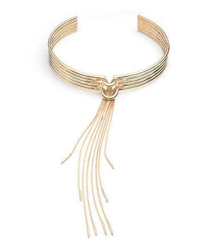 Y32C6 Eddie Borgo Neo Tassel Collar Necklace