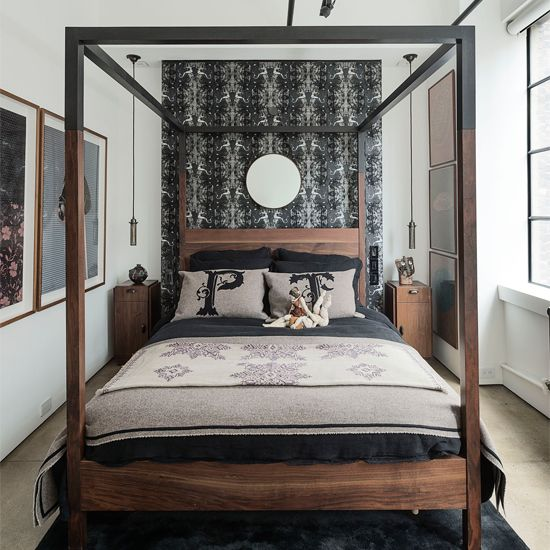 The smalls home and cabinet lights on pinterest for Big bed small room