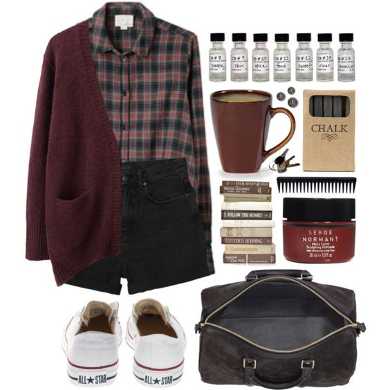 Not dead yet by hanaglatison on Polyvore featuring Acne Studios, Band of Outsiders, Monki, Converse, Serge Normant, GHD and Jayson Home