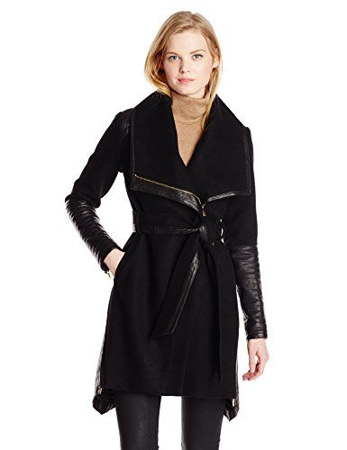 Badgley Mischka Women's Lori Belted Wool Cashmere Coat with