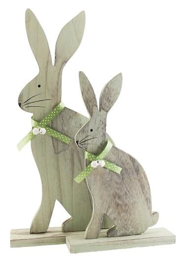 Wooden bunny ornaments source the contemporary home for Rabbit decorations home