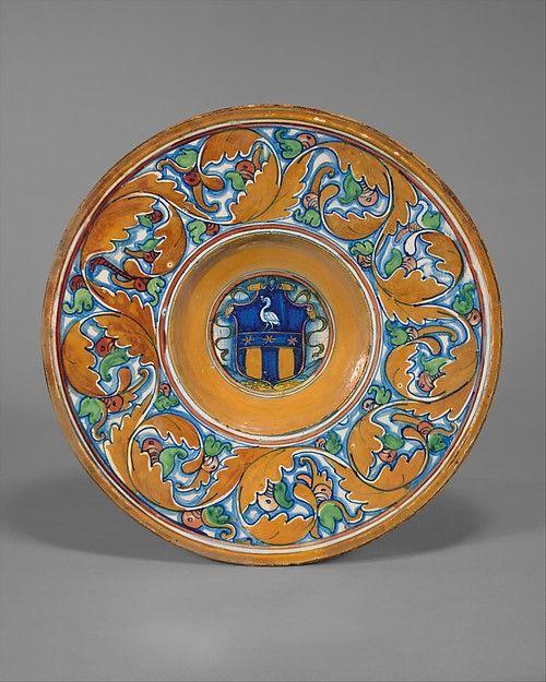Plate Tondino Probably Workshop Of Maestro Giorgio Andreoli Italian Gubbio Active First Half Of 16th Italian Ceramics Majolica Pottery Italian Majolica