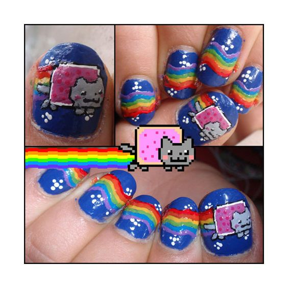 Super Awesome Nerdy NAILS! | Smosh found on Polyvore