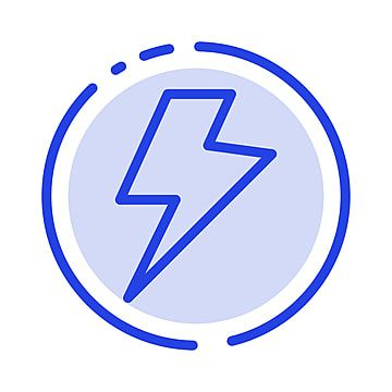 Power Charge Electric Blue Dotted Line Line Icon Line Icons Blue Icons Background Png And Vector With Transparent Background For Free Download Line Icon Dotted Line Vector Power