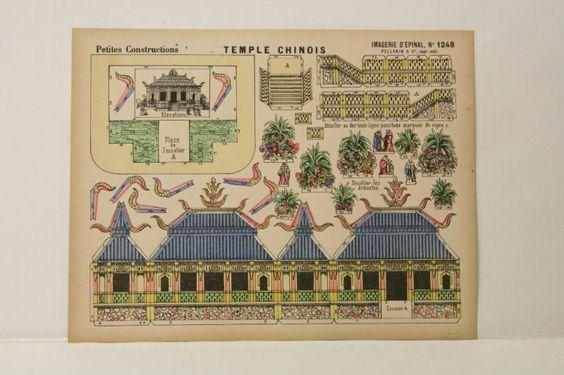 Pellerin Imagerie D'Epinal- 1248 Temple Chinois P. vintage paper model