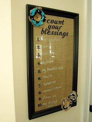 Blessings Board...what a cute idea!