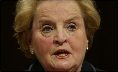 MADELEINE ALBRIGHT, a Czech-born refugee, became the first woman ever to hold the post of United States secretary of state in 1997. She was granted political asylum in the U.S. in 1948 and became an American citizen in 1957.