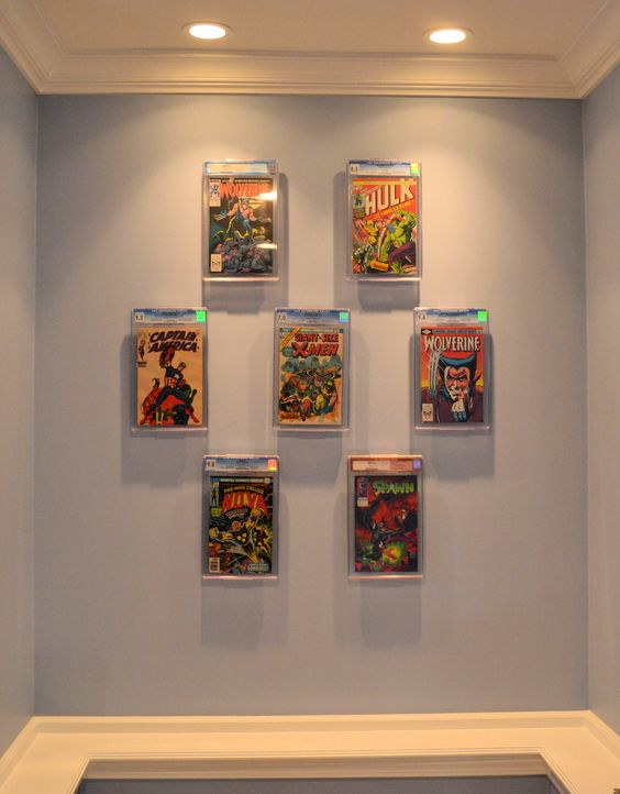 New two in one comic book and collectible display that can be used as either a wall mount or - Comic book display shelves ...