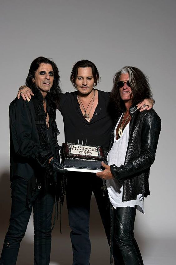 Johnny Depp, Alice Cooper, & Joe Perry, are a band called the Hollywood Vampires.... Take my $$$