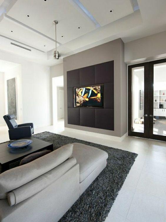 modernes wohnzimmer gestalten wohnzimmer einrichten wandpaneele tv - wohnzimmer modern schwarz weis