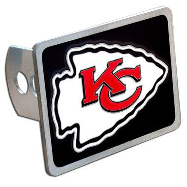 Kansas City Chiefs Hitch Cover Class II and Class III Metal Plugs