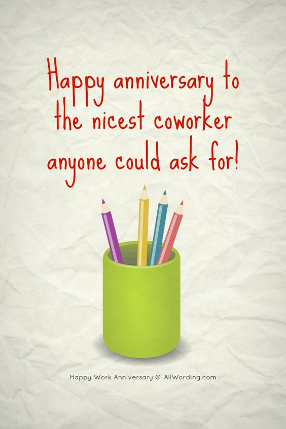 30 Year Work Anniversary Meme : anniversary, Happy, Anniversary, Nicest, Coworker, Anyone, Could, #happyworkanniversary, Anniversary,, Quotes,, Message