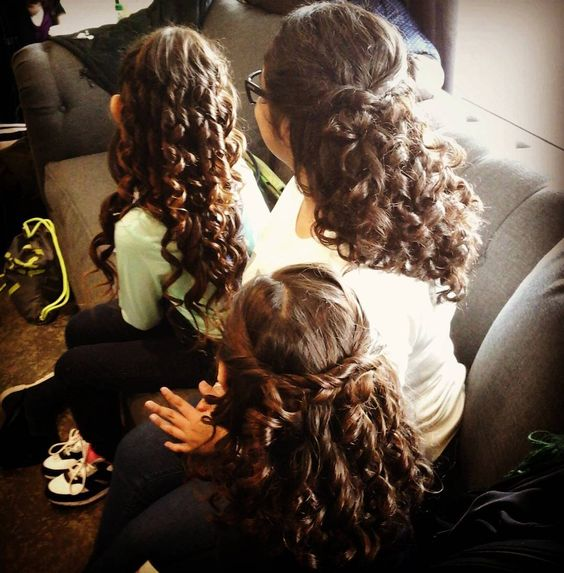 Curls for days! #flowergirlhair #curls #hair #beauty