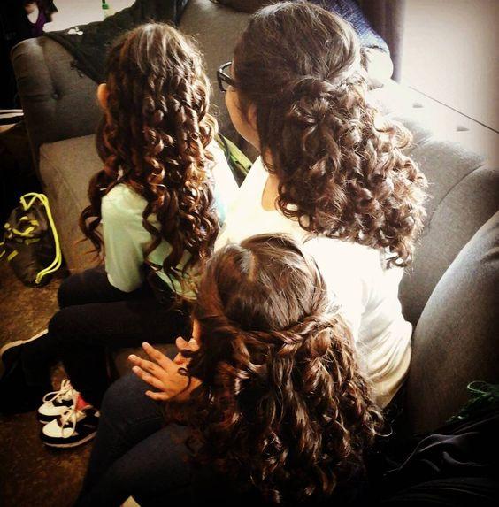 Curls for days! #flowergirlhair #curls #hair #beauty
