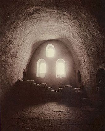 iamjapanese:annesymes    Linda Connor(American, b.1944)  Coptic Monastery, Egypt  1989  contact print on printing-out-paper  © 2012, G. Gibson Gallery