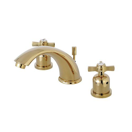 Kingston Brass Millennium Widespread Bathroom Faucet With Drain Assembly Walmart Com In 2020 Kingston Brass Polished Brass Widespread Bathroom Faucet