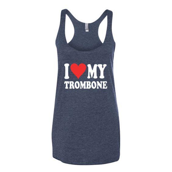 I Love My Trombone, Women's tank top