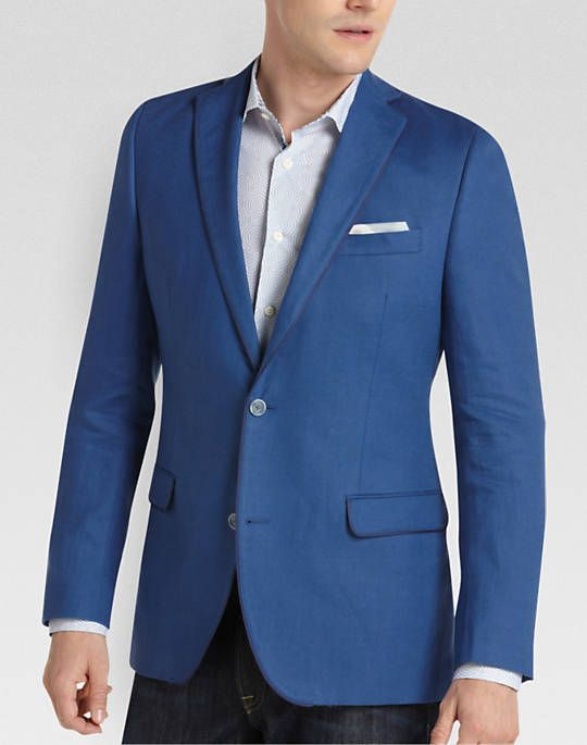 130 Tallia Royal Blue Slim Fit Sport Coat Men S