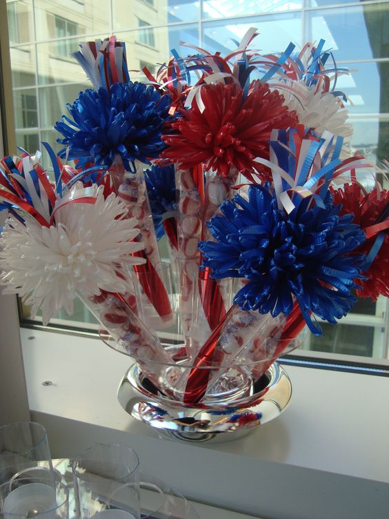 Alternative centerpiece decor for an air force event they for Air force decoration