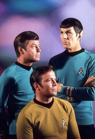 Star Trek reruns after school ~ Kirk, Spock and Bones  #tv #series #scifi