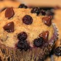 Oat Bran–Banana-Blueberry Muffins, a Healthy Berry Recipe