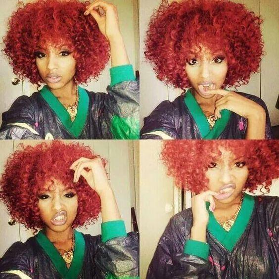 Natural hair + bold color