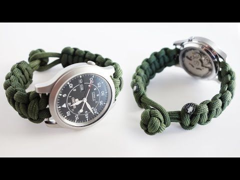 How To Make A Paracord Watch Band Tutorial Knot And Loop Watch