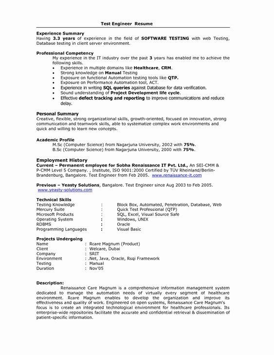 Curriculum Vitae (CV)  Resume Samples  Resume Format Y VENKATA