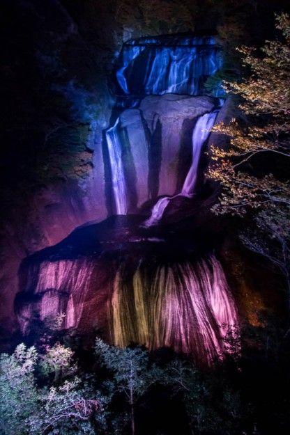 袋田の滝、第二観瀑台から