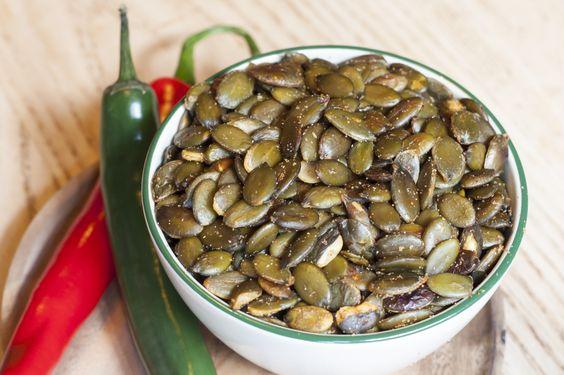 Pepitas - spicy pumpkins seeds  Full menu: http://www.kahluacoffeehouse.com/menus