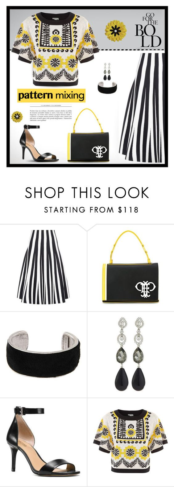 """Pattern Mix Master"" by sohosue ❤ liked on Polyvore featuring Alexander Wang, Emilio Pucci, Isabel Marant, Oscar de la Renta, MICHAEL Michael Kors, Temperley London and patternmixing"