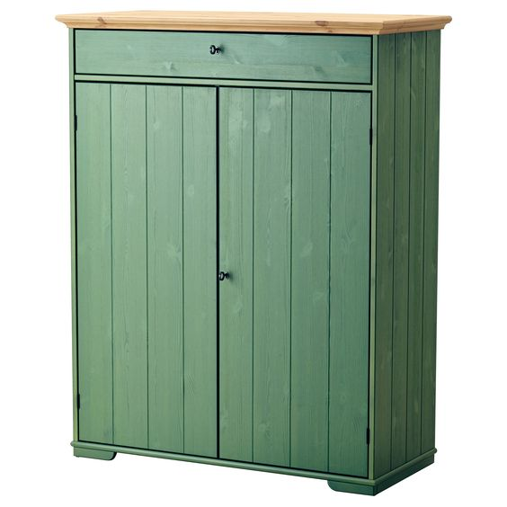 linen cabinet hurdal green solid pine cabinets and pine