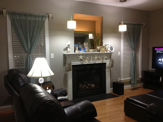 Our New Living Room Paint Is Wood Smoke From Glidden Lighting From Lowes Wall Color