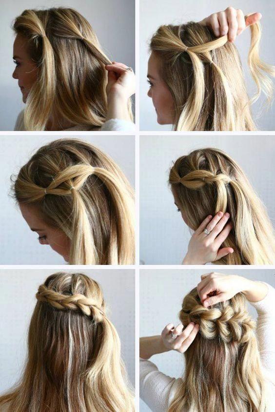 Braided Hairstyles Tutorial Step By Step Guidelines Ombrehairupdos Braided Hairstyles Tutorials Easy Hairstyles Short Hair Styles