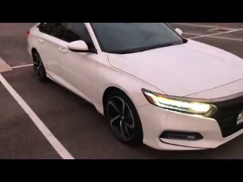 My New White 2018 Honda Accord Sport 2 0t With Tinted Windows A Must Youtube Accord Sport 2018 Honda Accord Honda Accord Sport