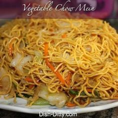 Vegetable Chow Mein. Would like to try this with Chicken in it.